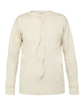 Tie Front Cotton Top by Jw Anderson