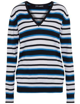 Striped Cashmere And Silk Blend Sweater by Dolce & Gabbana