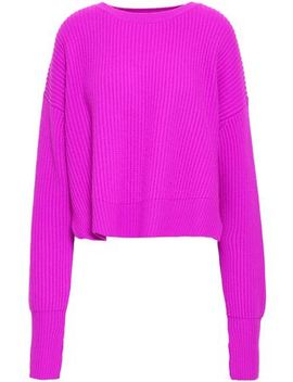 Cropped Ribbed Wool And Cashmere Blend Sweater by Re/Done