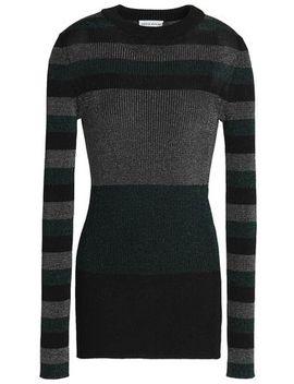 Color Block Metallic Ribbed Knit Top by Sonia Rykiel