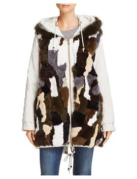 Reversible Fur Lined Anorak   100 Percents Exclusive by Aqua