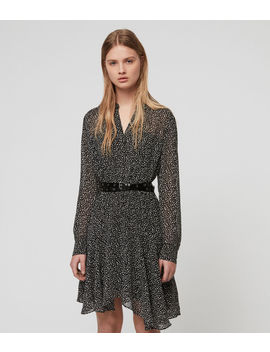 Martina Splash Dress by Allsaints