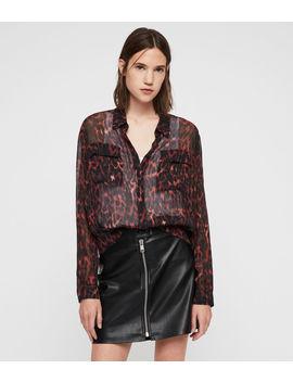 Adeliza Leopard Shirt by Allsaints