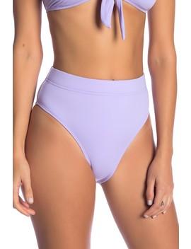 Solid High Waist Bikini Bottoms by The Bikini Lab