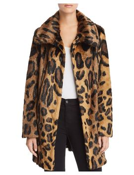 Leopard Print Furever Faux Fur Coat by Unreal Fur