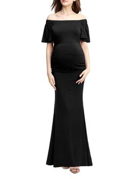 Abigail Off The Shoulder Maternity Dress by Kimi And Kai