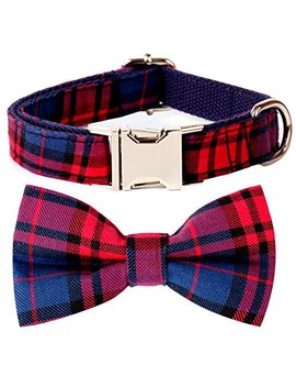 Csspet Cat And Dog Collar Bow Tie, Detachable Bowtie, Adjustable Collar by Csspet