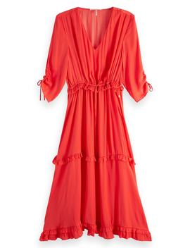 Ruffle Midi Dress by Scotch & Soda