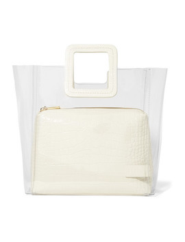 Shirley Pvc And Croc Effect Leather Tote by Staud