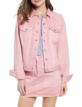 Raglan Oversize Jean Jacket by Madewell