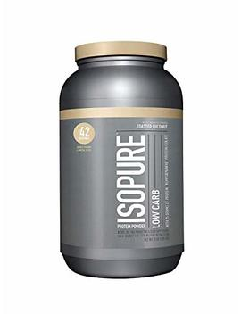 Isopure Low Carb Protein Powder, 100 Percents Whey Protein Isolate, Keto Friendly, Flavor: Toasted Coconut, 3 Pounds (Packaging May Vary) by Isopure