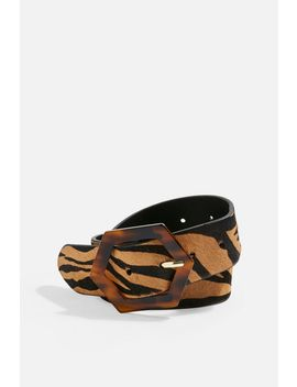Tiger Tortoiseshell Buckle Belt by Topshop