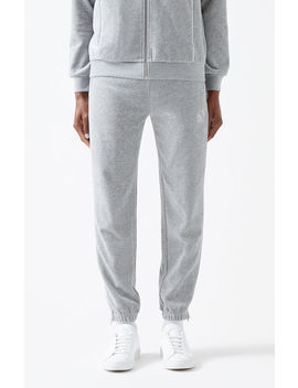 Not Of This Earth Velour Track Pants by Pacsun