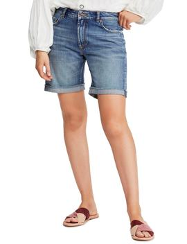Ivy Long Denim Shorts by Free People