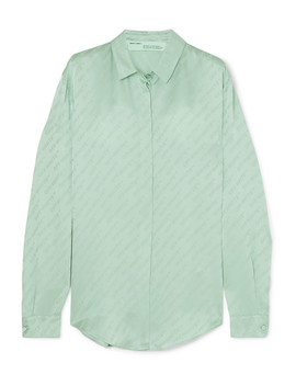 Satin Jacquard Blouse by Off White