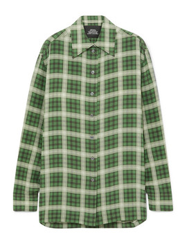 Oversized Checked Silk Chiffon Shirt by Marc Jacobs