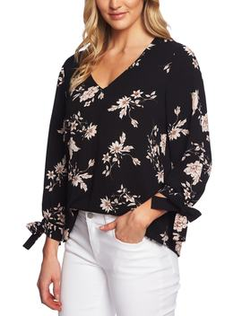 Etched Floral Blouse by Cece
