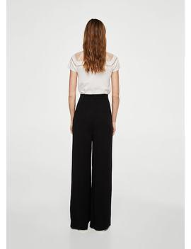 Spodnie Garniturowe Z Wysokim Stanem by Mango