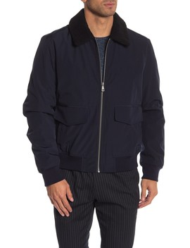 Faux Shearling Collar Jacket by Cole Haan