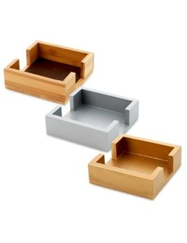 Thirstystone® Square Wood Coaster Caddy by Bed Bath And Beyond