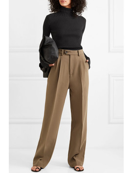 Ribbed Stretch Cotton Blend Turtleneck Sweater by Victoria Beckham