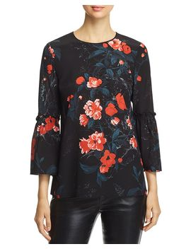 Roslin Floral Silk Blouse by Lafayette 148 New York