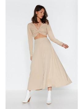 Button Down Twist Maxi Dress by Nasty Gal