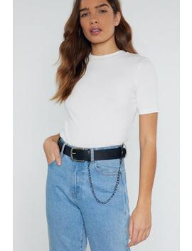 Chain Of Heart Faux Leather Belt by Nasty Gal