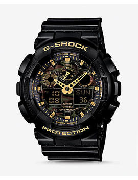 G Shock Extra Large Black And Gold Watch by Express