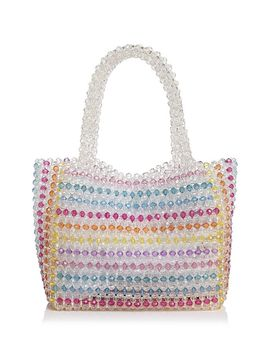 Samira Striped Beaded Tote   100 Percents Exclusive by Aqua