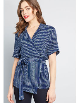 Mindful Style Wrap Top by Modcloth