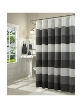 Dainty Home Ombre Waffle Weave Fabric Shower Curtain by Dainty Home