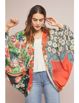Dylan Floral Cocoon Kimono by Anthropologie