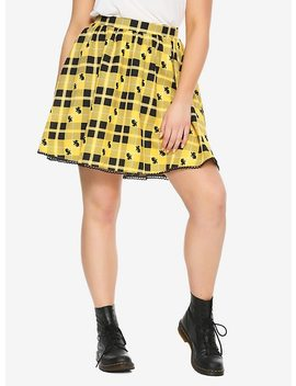 Harry Potter Hufflepuff Plaid Skirt Plus Size by Hot Topic