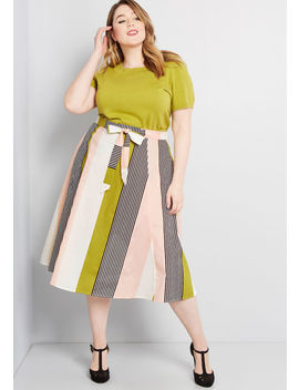 Collectif X Mc Twirl Time Midi Skirt by Collectif