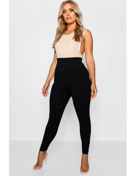 Plus High Waist Sculpt Leggings by Boohoo