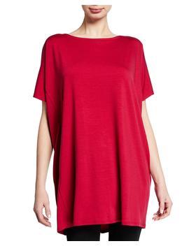 Short Sleeve Tencel Jersey Tunic, Petite by Eileen Fisher