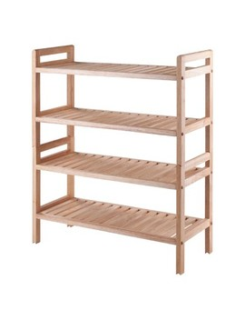 Mercury 2pc Stackable Shoe Rack Set   Natural   Winsome by Winsome