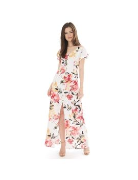 Juniors' Iz Byer Flutter Sleeve Bar Back Maxi Dress by Kohl's
