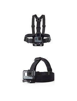 Amazon Basics Chest Mount Harness For Go Pro With Amazon Basics Head Strap Camera Mount For Go Pro by Amazon Basics