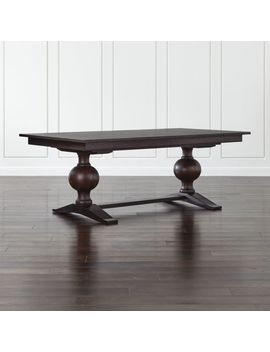 Winnetka Dark Mahogany Rectangular Extendable Dining Table by Crate&Barrel