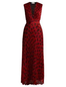 Mika Floral Print Pleated Dress by Raquel Diniz