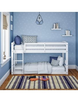 Better Homes & Gardens Tristan Twin Floor Bunk Bed, White by Better Homes & Gardens