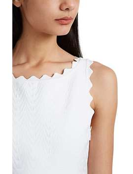 Wavy Pattern Compact Knit A Line Dress by Alaïa
