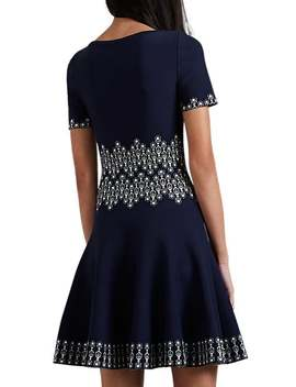 Abstract Pattern Compact Knit Dress by Alaïa