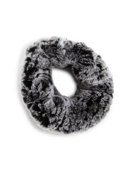 Rabbit Fur Knit Headband by Surell