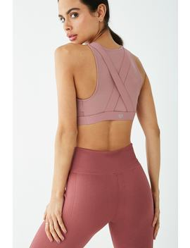 Low Impact   Sheer Panel Sports Bra by Forever 21