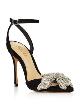 Women's Ayanne Embellished Suede High Heel Sandals by Schutz