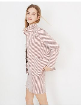 Denim Patch Pocket Chore Coat In Stripe by Madewell