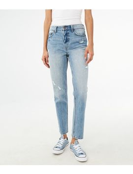 High Waisted Ankle Mom Jean by Aeropostale